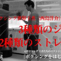 元世界ボクシングクルーザー級王者の西島洋介がレクチャーするボクシング動画「ジャブの打ち方、ストレートの打ち方」