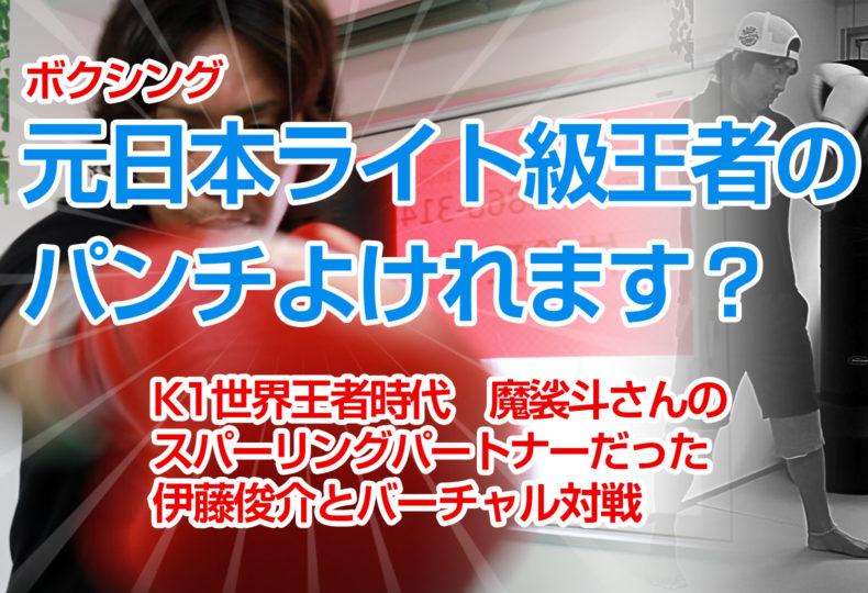 あなたはプロボクサー(KO率75%の元日本ライト級王者)のパンチよけれますか?バーチャルボクシング